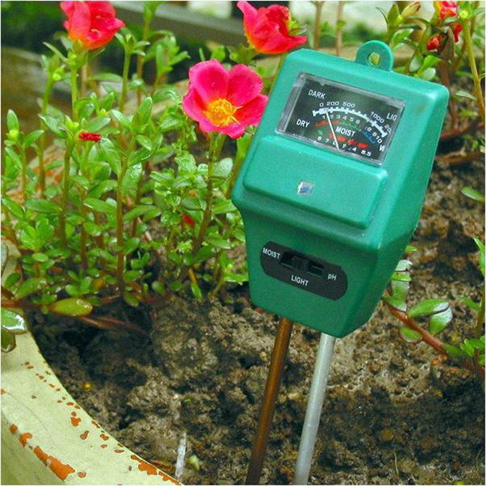 PUSH!園藝用品土壤酸鹼度計濕度計照度計三合一土壤檢測儀ph計(2入組)B31-1