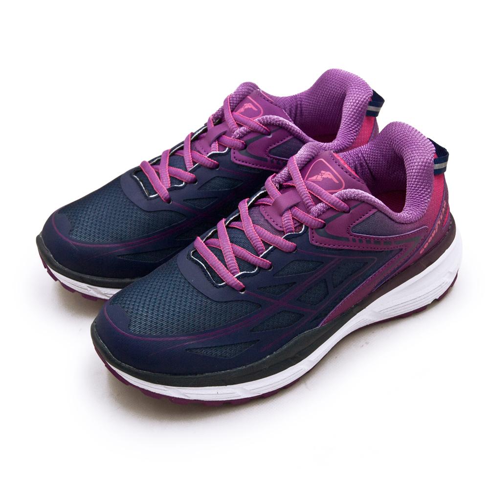 【女】GOODYEAR 專業動能緩震慢跑鞋 K1-ENERGY能量系列 藍紫 82207