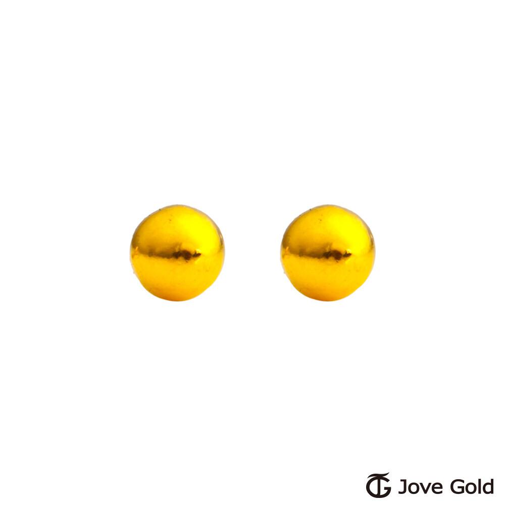 jove gold 漾金飾 承諾黃金耳環-小