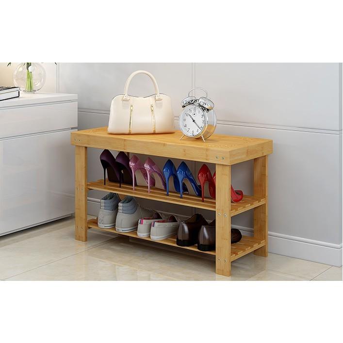 鞋架简易多层防尘鞋柜换鞋凳家用置物架子宿舍省空间门口收纳实木 - 2層90雕花換靴鞋凳