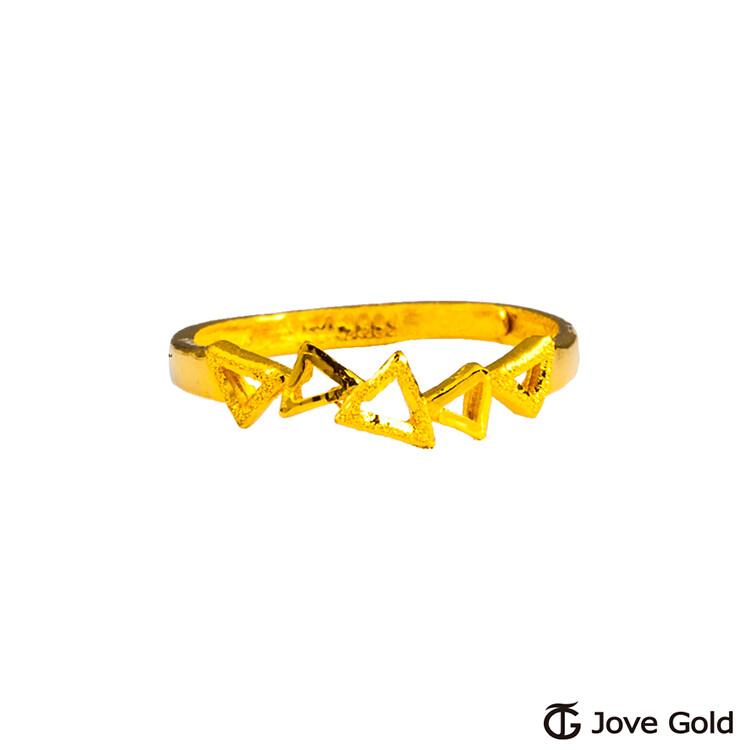 jove gold 漾金飾 幾何學黃金戒指