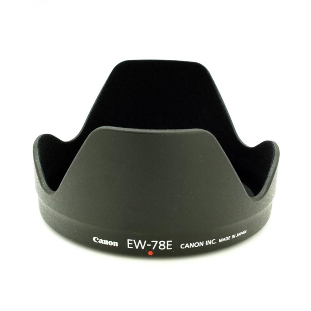 Canon佳能原廠遮光罩EW-78E蓮花遮光罩EW78E花瓣遮光罩,適EF-S 15-85mm f/3.5-5.6 IS USM遮陽罩太陽罩