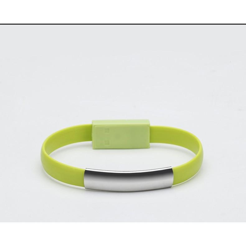 創意便攜手腕手環 數據線 充電寶usb線短 i5/ip5s/iphone6蘋果7安卓8x手鏈type