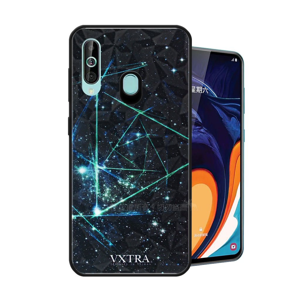 VXTRA 三星 Samsung Galaxy A60 鑽石紋防滑全包保護殼(科幻元素) 有吊飾孔