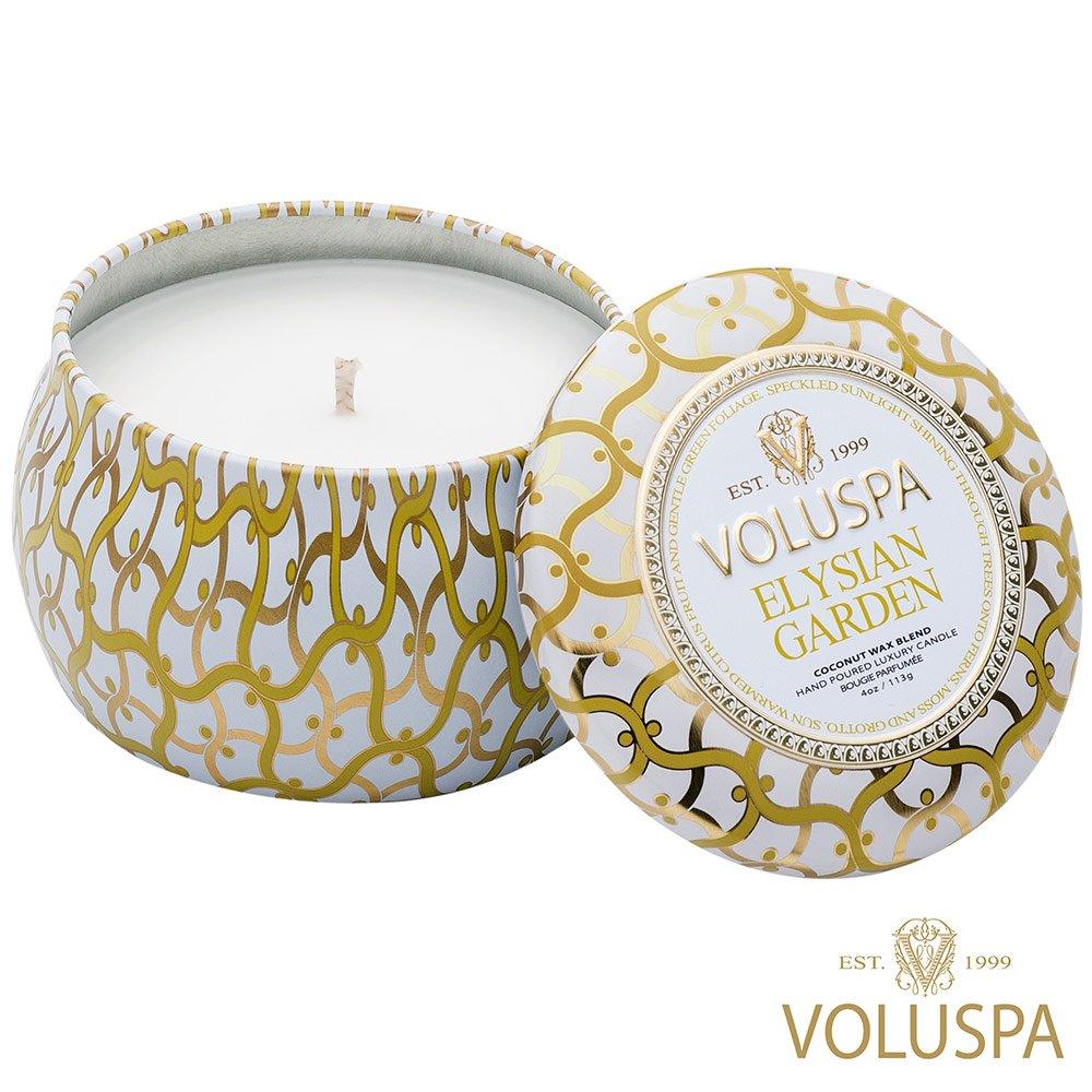 VOLUSPA 美國香氛 白屋系列 Elysian Garden 極樂世界花園 香氛禮盒 錫盒 113g
