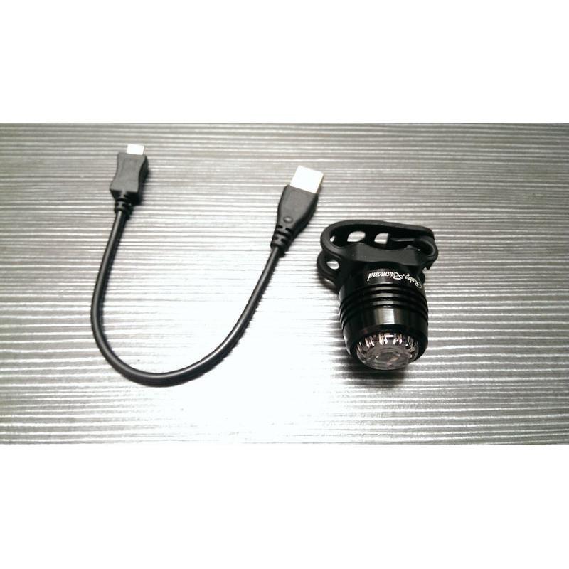 紀錄單車 dosun ruby usb充電前燈 寶石前燈 黑色白光 40流明 輕量 29g