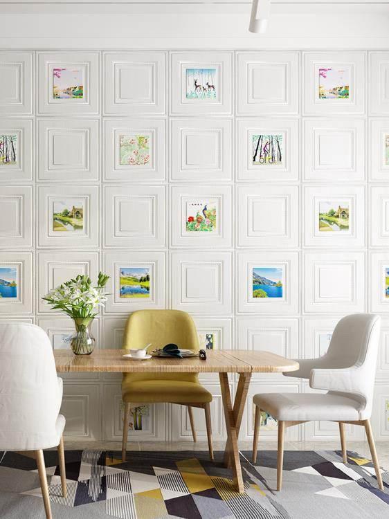 墻紙自粘3d立體墻貼臥室溫馨裝飾背景墻面壁紙泡沫磚防水貼紙北歐