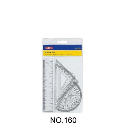 【三燕 COX 三角板組】NO.160/160 塑膠尺組/三角尺/量角器(三角板/直尺/半圓)