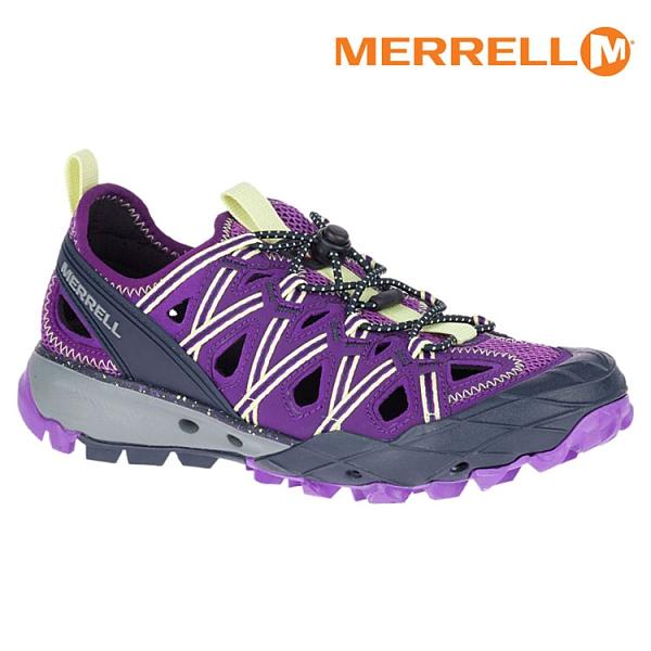 MERRELL 女 ML034174 水陸兩用鞋 CHOPROCK SHANDAL【紫-檸檬黃】/ 城市綠洲 (快速排水、抗菌防臭)