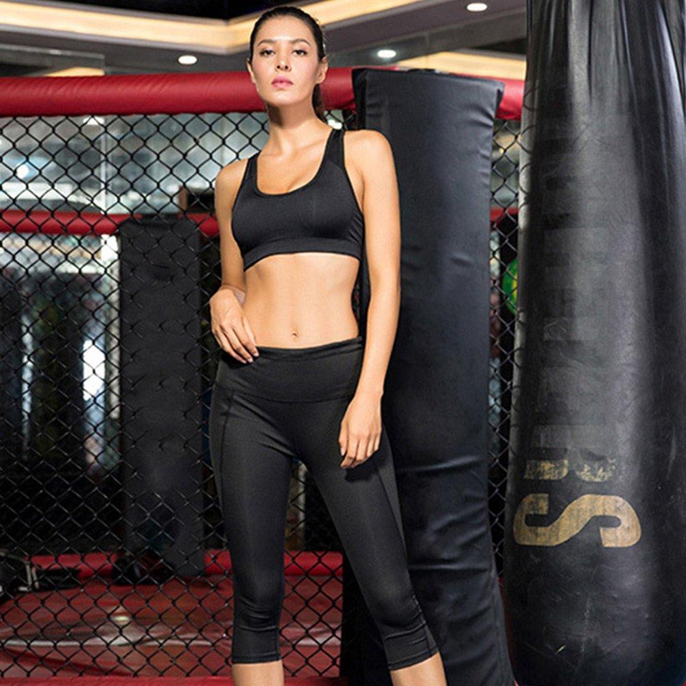 【KD.PRO】高腰超彈力塑腹側口袋7分壓縮褲-2032(瑜珈/瘦腿褲/女款3色S-XL)