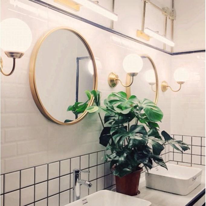 免運 北歐 鐵藝壁 挂鏡圓形鏡子 化妝鏡  浴室鏡 圓鏡  裝飾  鏡試  衣鏡  挂鏡 創意