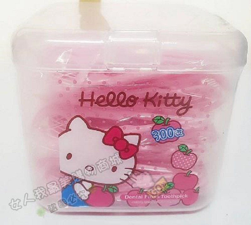 hello kitty超韌牙線棒溫書版 300支