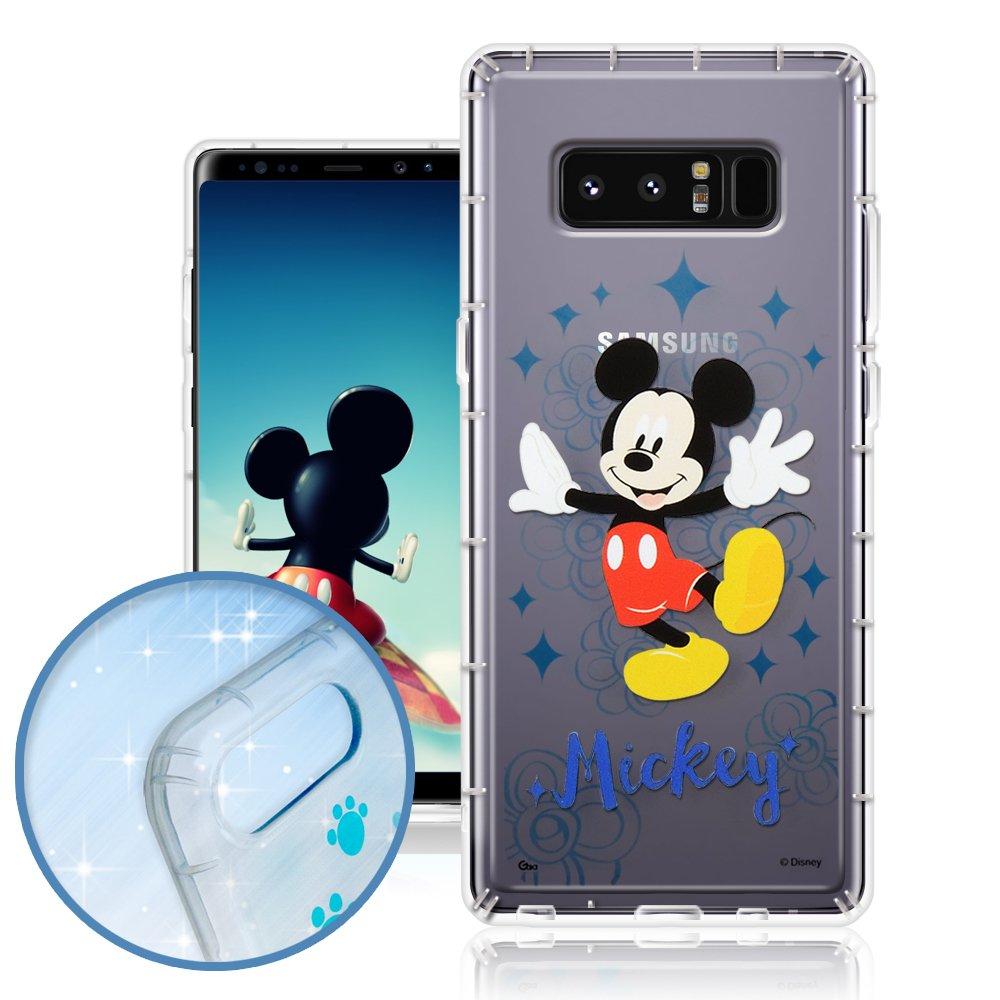 迪士尼正版授權 Samsung Galaxy Note 8 調皮安全空壓手機殼-經典米奇