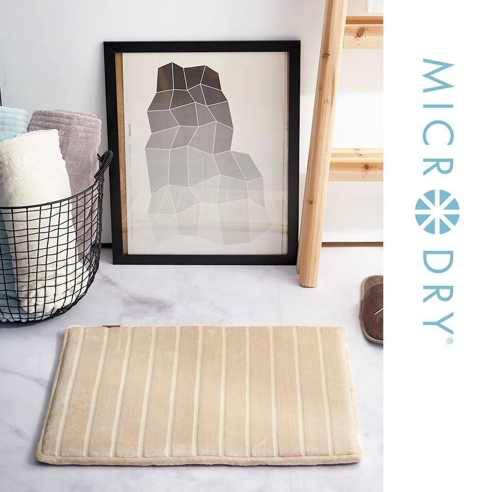 【MICRODRY紐約時尚地墊】奢華絲光記憶綿地墊-流沙金