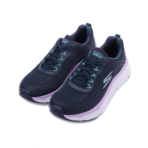 SKECHERS 慢跑系列 GO RUN MAX CUSHIONING ELITE 綁帶運動鞋 藍紫白 17699BLPR 女鞋