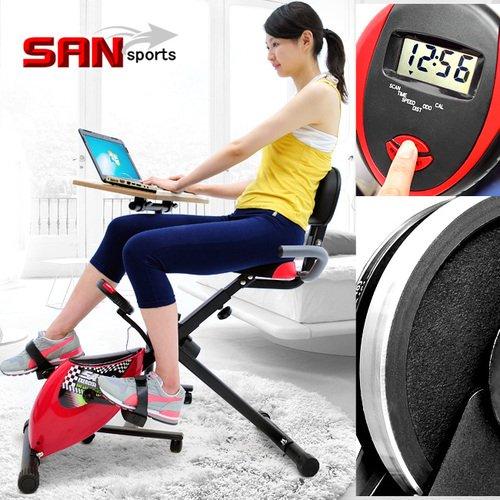 【SAN SPORTS 山司伯特】超跑飛輪式磁控健身車(臥式健身車臥式車.懶人車X型BIKE美腿機