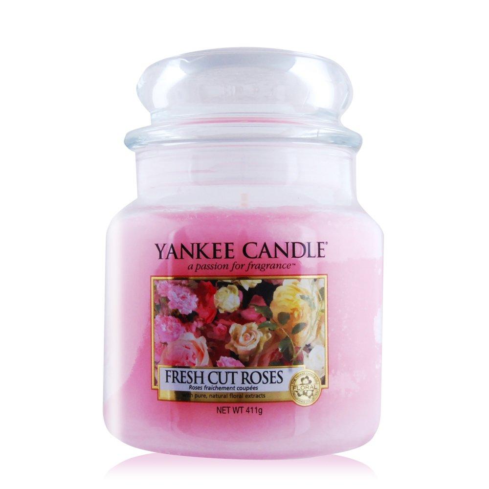 YANKEE CANDLE香氛蠟燭-玫瑰(411g)