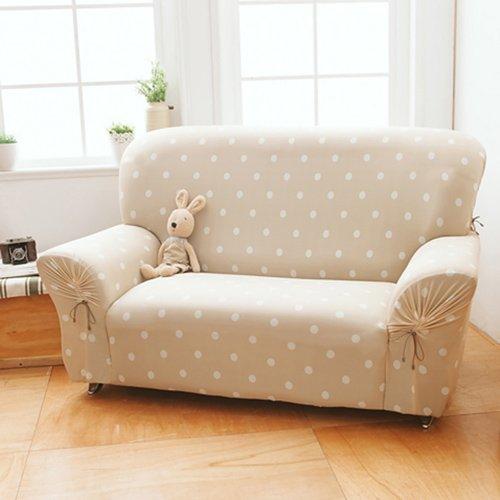 【格藍傢飾】雪花甜心涼感彈性沙發套1人座-焦糖咖