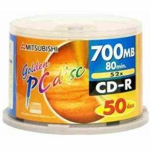 三菱 52X CD-R 地球白金片 80min (50片)
