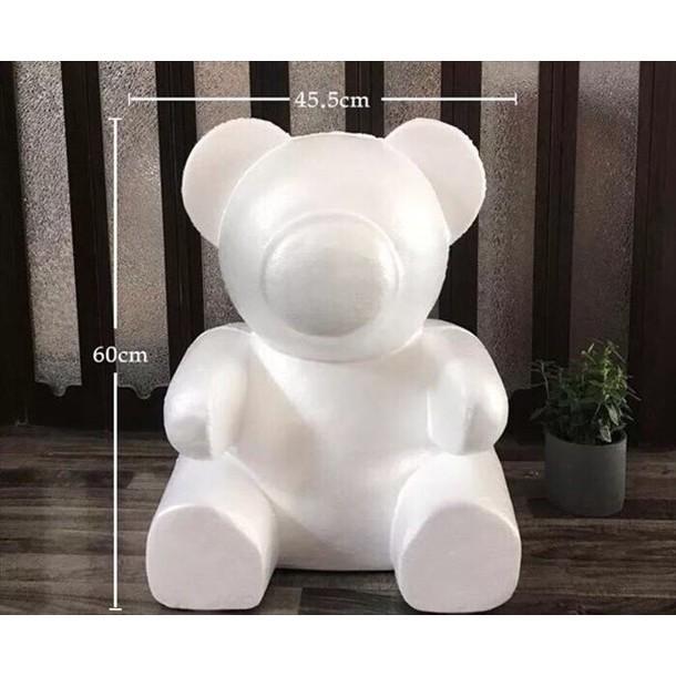 60cm熊泡沫模型材料(小熊玫瑰熊珍珠熊)
