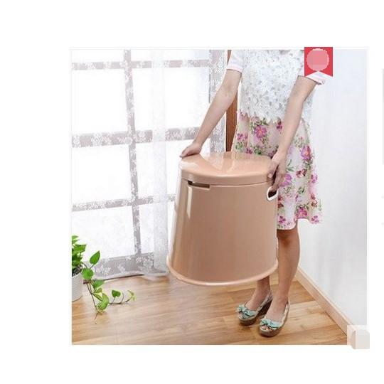 加厚型 移動馬桶老人馬桶兒童坐便器新料座便器塑料 - 加高加厚膚色馬桶