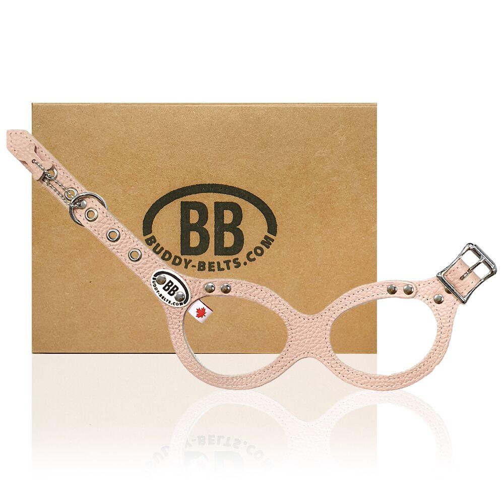 【Buddy Belts】加拿大手工真皮胸背帶-粉色-2.5號
