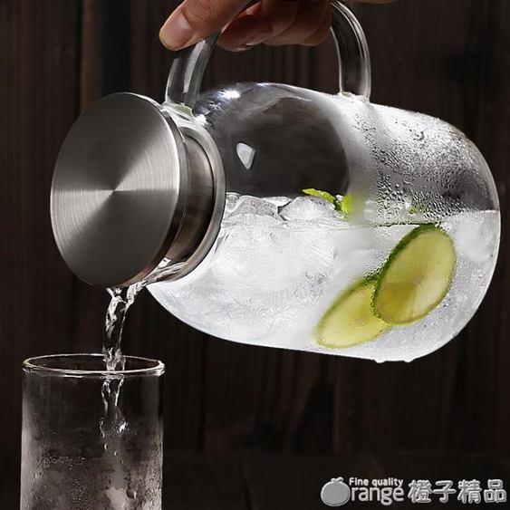 冷水壺玻璃耐熱家用套裝高溫防爆大容量涼白開水杯日式超大泡茶壺全館促銷限時折扣