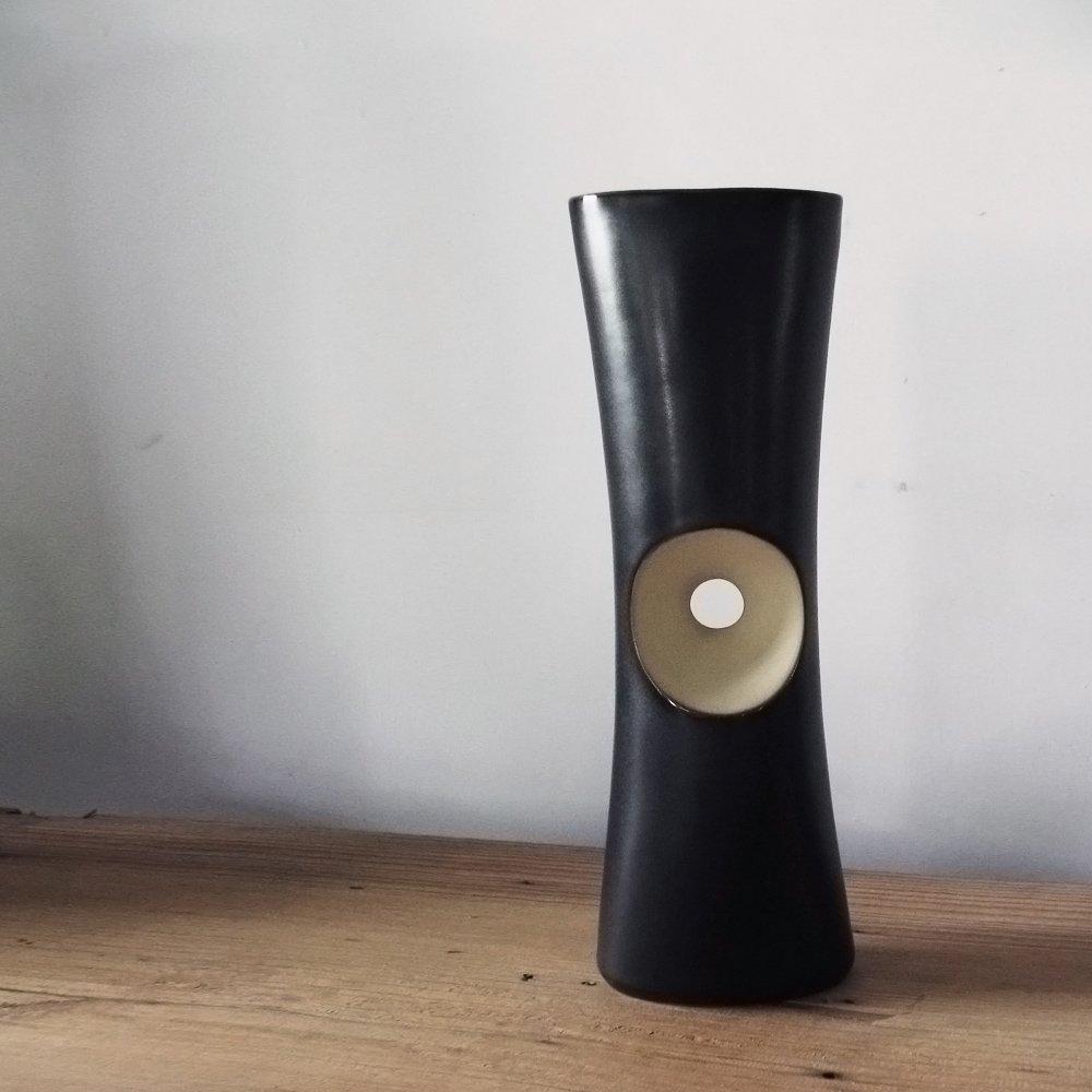 【3,co】管狀花器 F - 日本黑(原色內層)