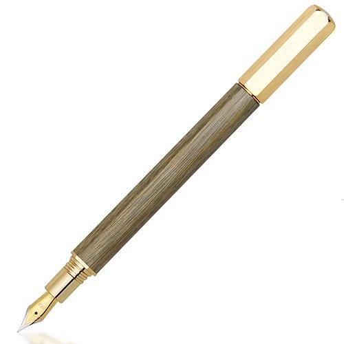SKB文明鋼筆六角檀木鋼筆TM-706*綠檀鍍金