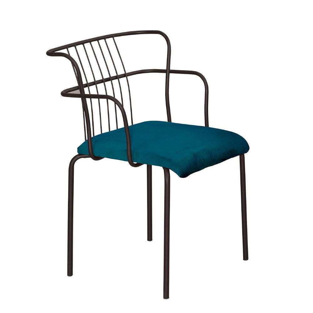 【MUNA】華格納綠絨布餐椅/休閒椅