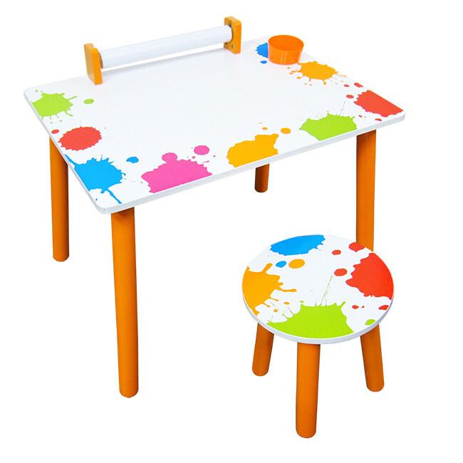 kikimmy 繽紛彩漾繪圖書桌椅組(一桌一椅)