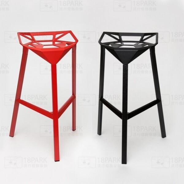 18park-金屬吧台椅 [紅色,金屬]