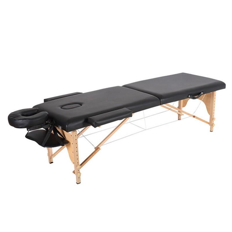 現貨 折疊櫸木SPA按摩床 折疊按摩床 推拿便攜式家用手提針艾灸理療美容床紋身床