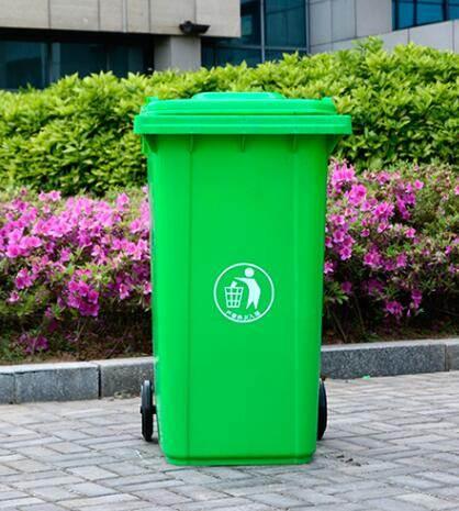 240升塑料戶外垃圾桶大號120L100L加厚小區環衛室外腳踏果皮箱 店