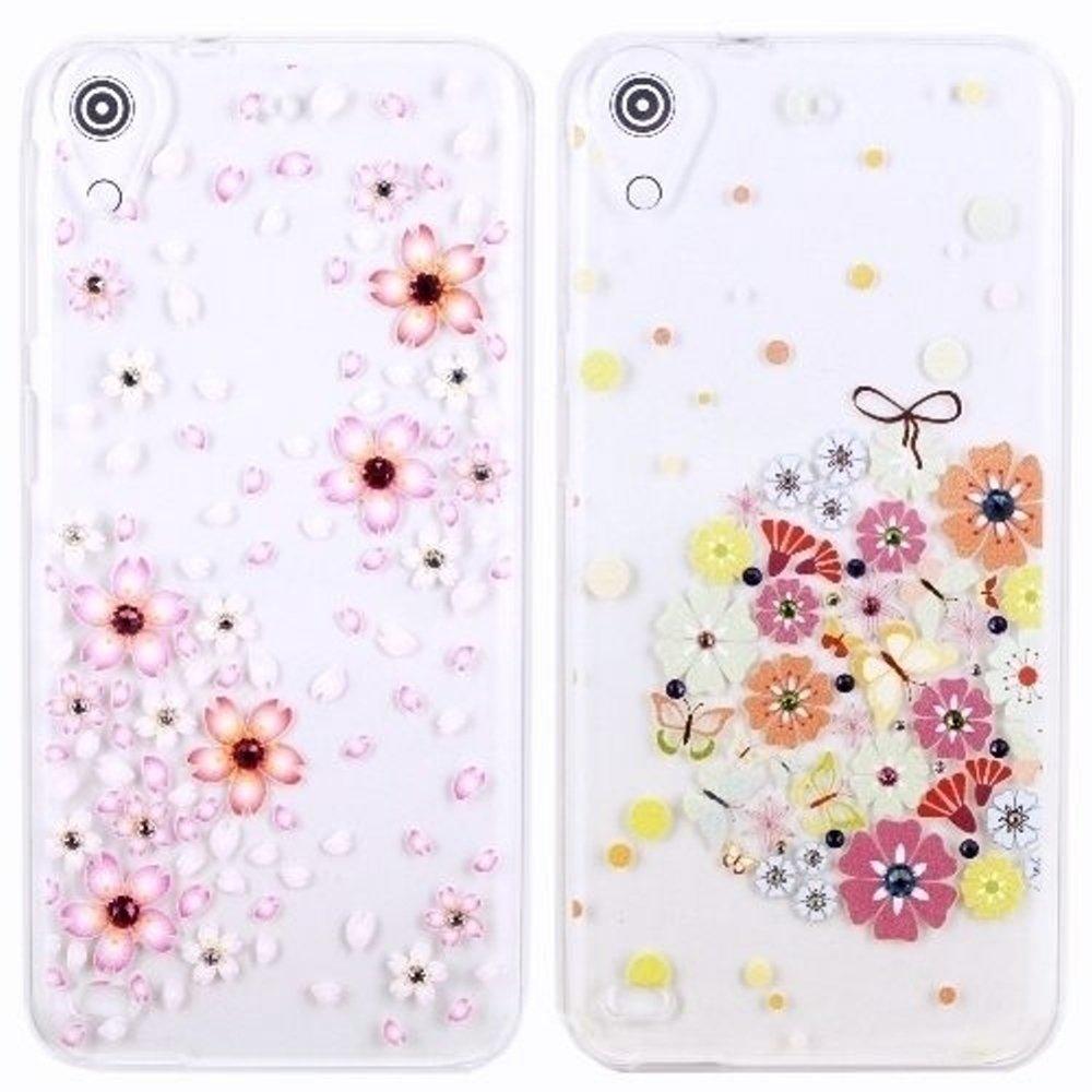 【奧地利水鑽】HTC Desire 530 (5吋) 花系列保護軟套