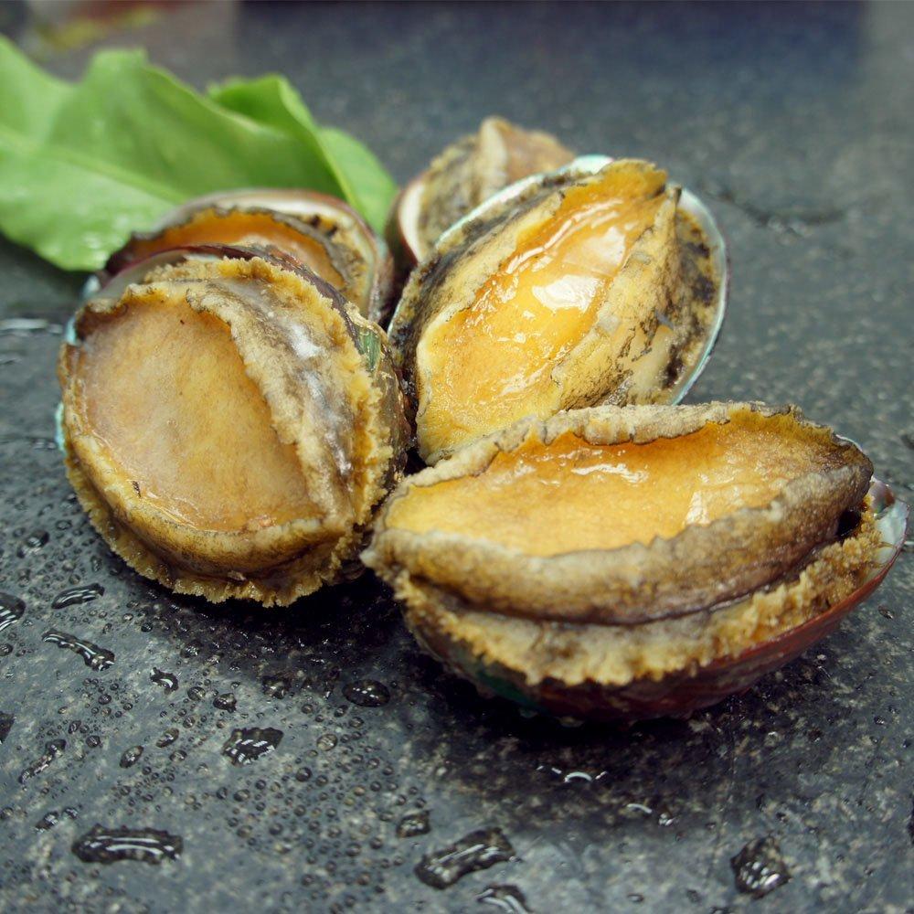 [優鮮配] 海味之冠帶殼大連鮑魚1盒(1kg/盒/約20-25粒)免運