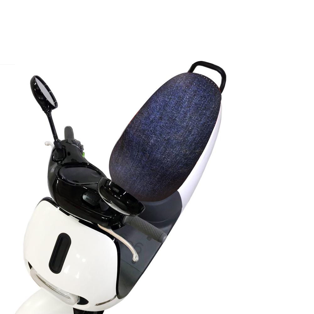 愛國者xCover-U 時尚彩繪機車座墊套-防燙、防潑水、防盜(藍仿牛仔布紋)