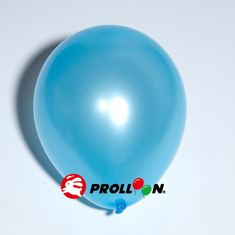 大倫氣球5吋珍珠色圓形氣球 100顆裝 淺藍色 台灣製造 安全無毒