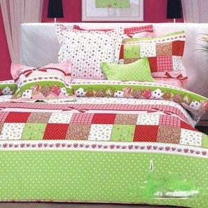 【情定巴黎-甜果拼布】單人六件式精梳棉床罩組