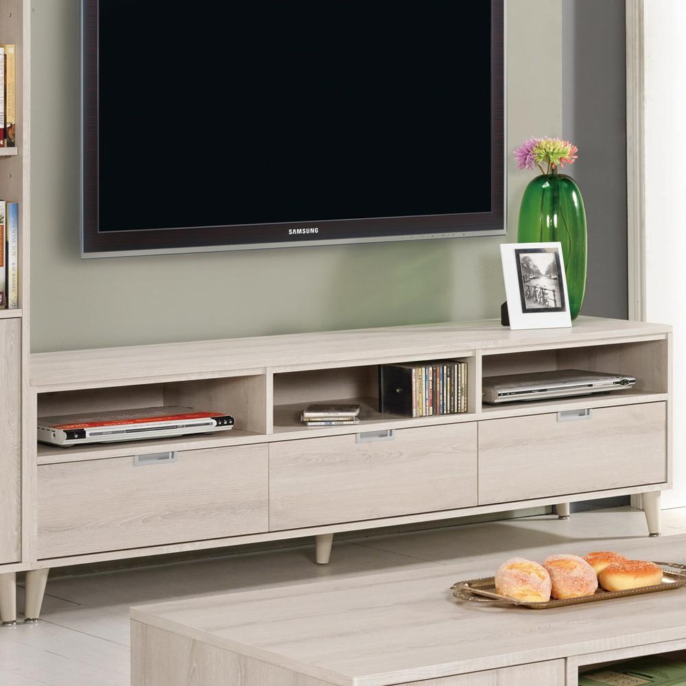 Boden-艾奇6尺簡約三抽電視櫃/長櫃