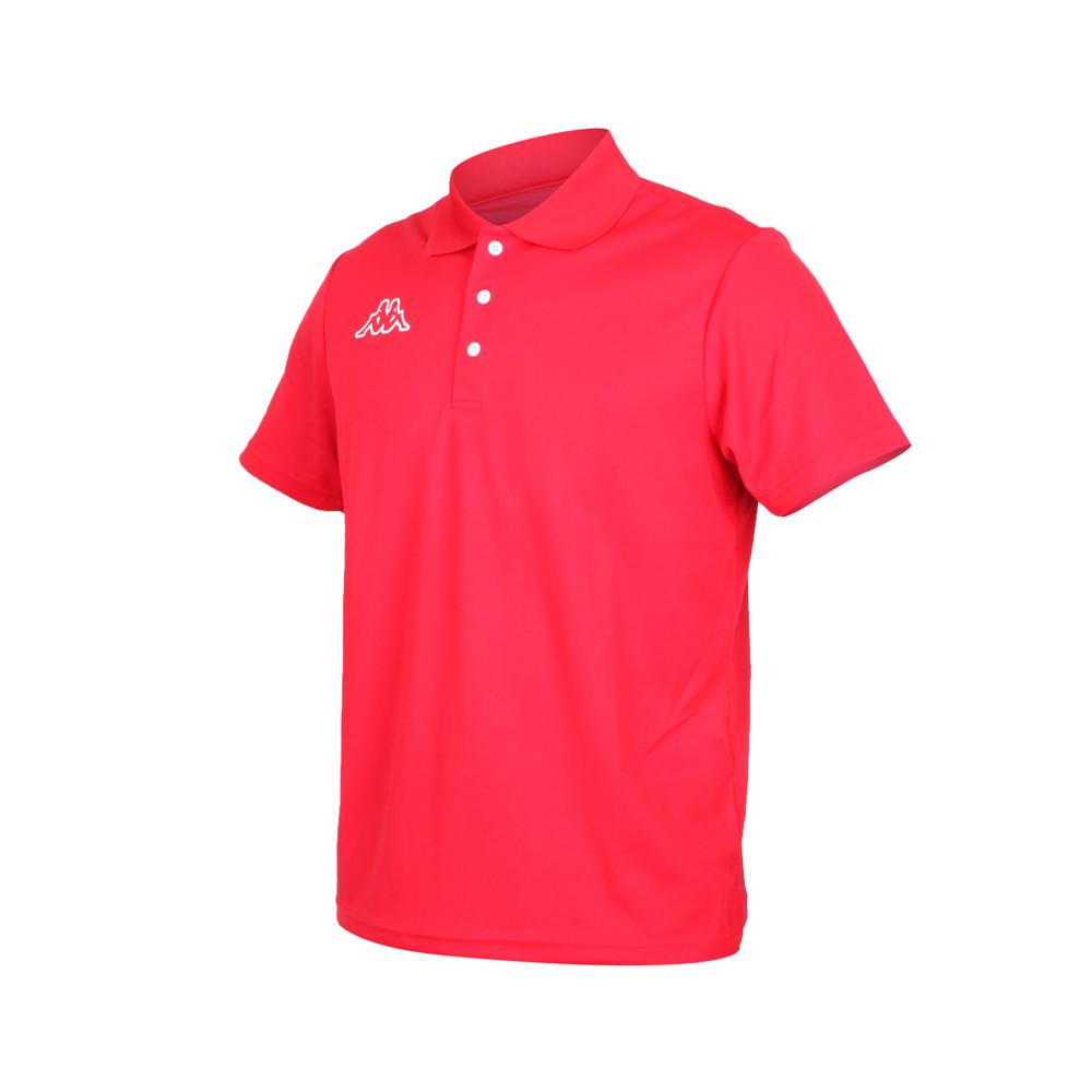 kappa 男短袖polo衫-台灣製 高爾夫 吸濕排汗 慢跑 運動 上衣 網球 羽球 紅白