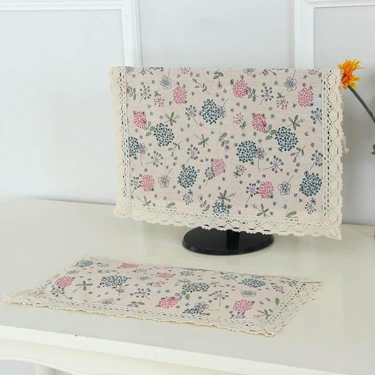 溫戀 棉麻電腦罩防塵罩臺式現代簡約液晶電腦保護套屏幕蓋布防塵 8號店
