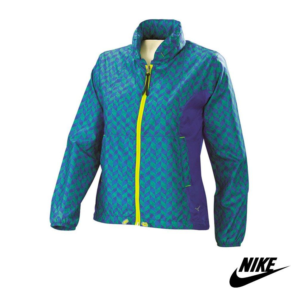 Mizuno 美津濃 女款風衣外套 翁滋蔓 防潑水抗UV紫外線 路跑風衣 慢跑 自行車外套(J2TC57)