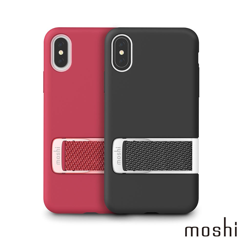 Moshi Capto for iPhone XS/X 指環支架織帶保護殼