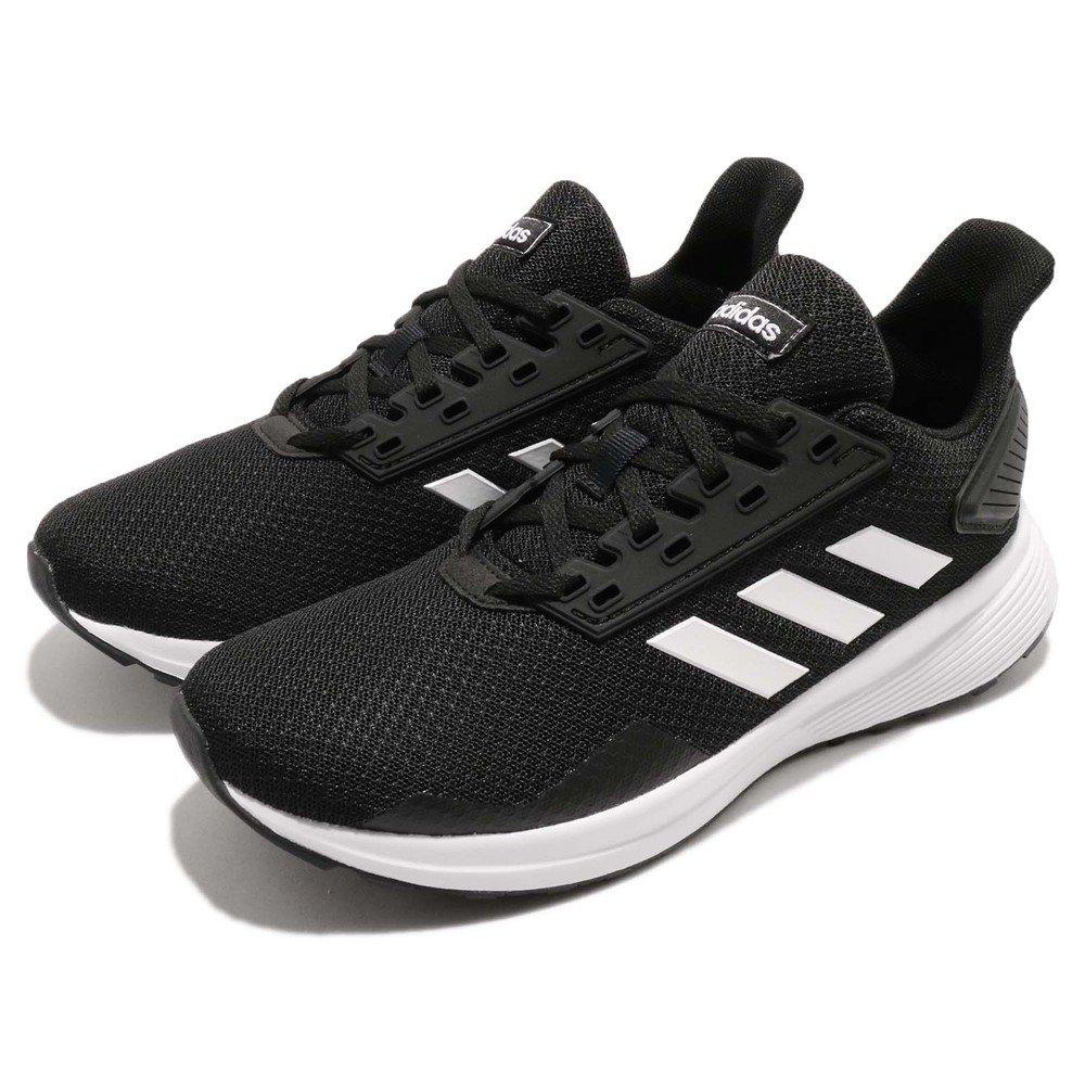 ADIDAS 慢跑鞋 Duramo 9 K 低筒 運動 女鞋 愛迪達 輕量 舒適 透氣 路跑 大童 黑 白 [BB7061]