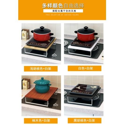 電磁爐置物架廚房用品電飯煲隔檔落地置物架簡易微波爐置物架子