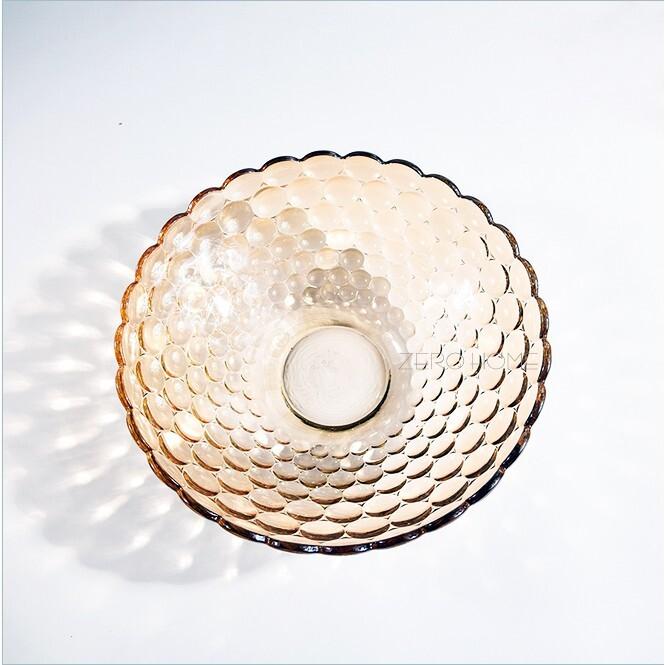 德力soga琥珀金珠點果盤 玻璃盤 水果盤 糖果盤 歐式果盤