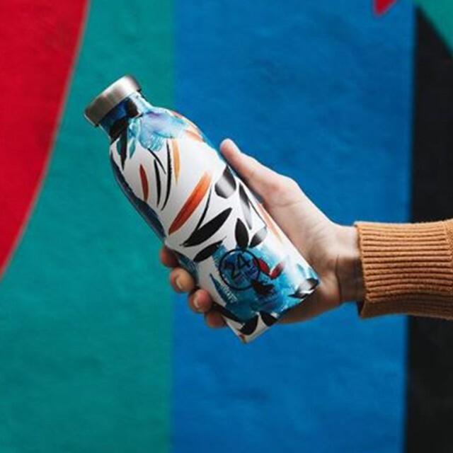 小宅私物義大利 24bottles 不鏽鋼雙層保溫瓶 500ml (純粹幸福) 不鏽鋼水瓶