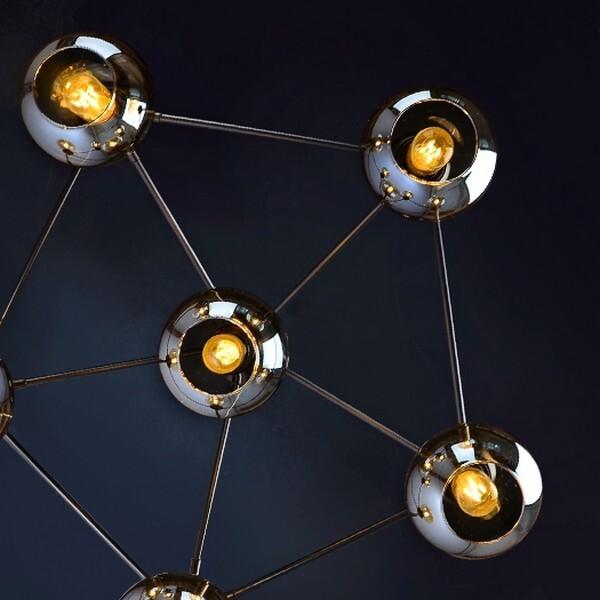 18park-魔豆吸頂燈-5+1燈/居家版 [黑體+鍍金玻璃,全電壓]
