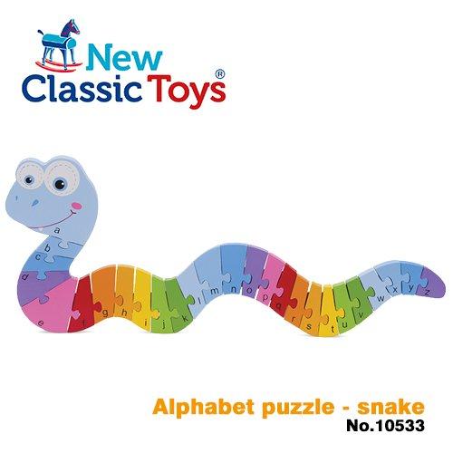 荷蘭New Classic Toys 幼兒字母學習拼圖-蛇寶寶10533